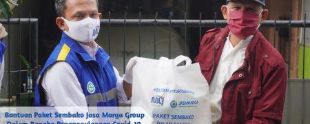 Bantuan paket sembako Jasamarga group dalam rangka penanggulangan covid-19